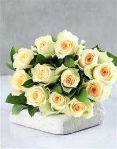 flowers: Cream Roses in Craft Paper!