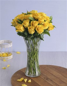 flowers: Yellow Roses in a Vase!