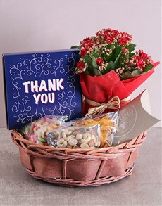 flowers: Thank you Snack Basket!