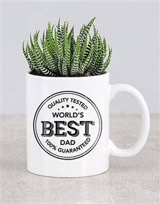 plants: Best Dad Cactus Mug!