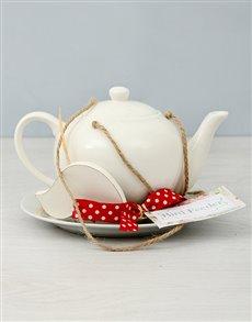 flowers: White Teapot Bird Feeder!