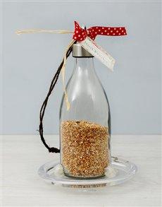 flowers: Milk Bottle Bird Feeder!
