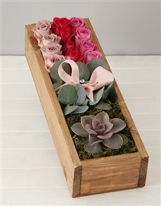 flowers: Rose and Gum Leaf Crate!