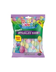 groceries: MR SWEET SPECKLED EGGS 400G, GIANT!
