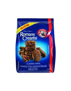 groceries: BAKERS ROMANY CREAMS 500G,CLASSIC CHOC!