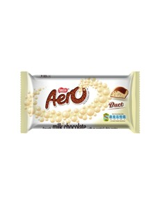 groceries: NESTLE AERO CLATE SLAB 135G, DUET!