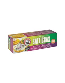 groceries: BAKERS SALTICRAX 200G, ROASTED ONION!