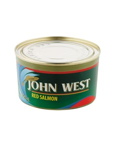 groceries: JOHN WEST RED SALMON 213G!