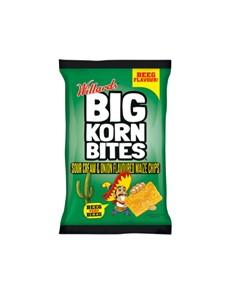 groceries: WILLARDS BIG KORN BITES 120G, SOUR CREAM!