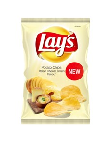 groceries: LAYS PCHIPS 120G ITALIAN CHSE GRATIN!