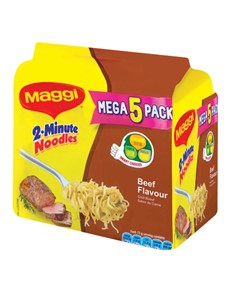 groceries: Maggi 2 Minute Beef Noodles 73G (5)!