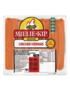 groceries: MIELIEKIP CHICKEN VIENNAS 1KG!