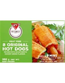 groceries: FRYS VEGETARIAN HOTDOGS 360G!