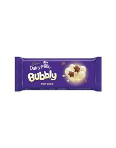 groceries: CADBURY BUBBLY SLAB 150, BUBBLY TOP DECK!
