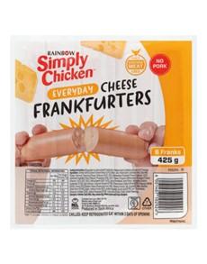 groceries: RAINBOW SIMLY CHICKEN FRANKFRU, ORIGINAL!