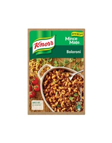 groceries: KNORR MINCE MATE 230G ,BOLORONI!