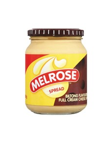 groceries: MELROSE CHEESE SPREAD 400G, BILTONG!