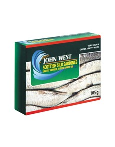 groceries: JOHN WEST SILD SARDINES IN OIL 105G!