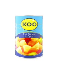 groceries: KOO FRUIT COCKTAIL 410G!