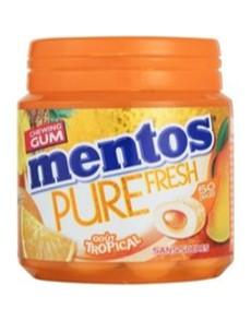 groceries: MENTOS GUM BOTTLE 60 PIECE, TROPICAL!