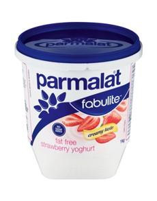 groceries: PARMALAT LOW FAT YOGH 1KG, STRAWBERRY!