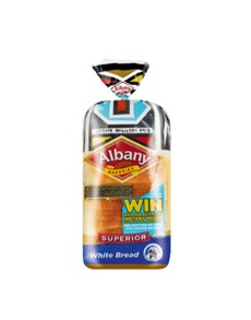 groceries: Albany Superior White Bread Sliced 700G!
