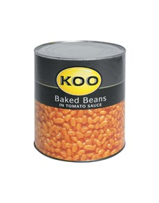 groceries: KOO BAKED BEANS IN TOMATO SAUCE 3.06KG!