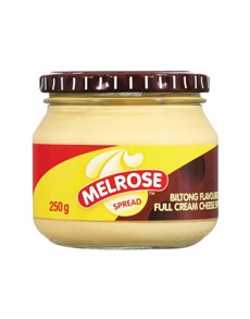 groceries: MELROSE CHEESE SPREAD 250G, BILTONG!