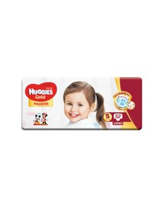 groceries: HUGGIES UNISEX GOLD NAPPIES, SIZE 5 52S!