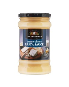 groceries: INA PAARMAN PASTA SAUCE 4, CREAMY CHEESE!