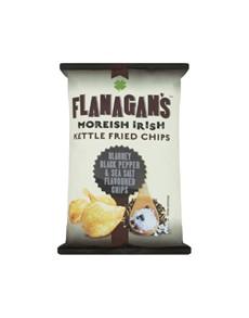 groceries: FLANAGANS CHIPS 125G, SSALT & BPEPPER!