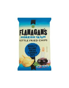 groceries: FLANAGANS CHIPS 125G, BALSAMIC VINEGAR!