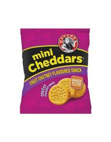 groceries: Bakers Mini Cheddar 33G, Frt Chutney!