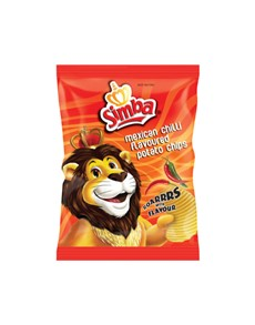 groceries: Simba Chips 125G, Mexican Chili!