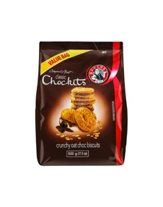 groceries: BAKERS CHOCKITS 500G, CLASSIC CHOC!