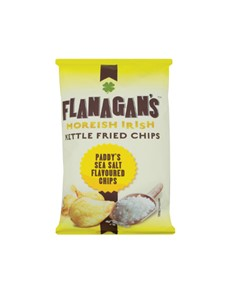 groceries: FLANAGANS CHIPS 125G, SEA SALT!