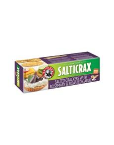groceries: BAKERS SALTICRAX 200G,ROSEMARY & GARLIC!