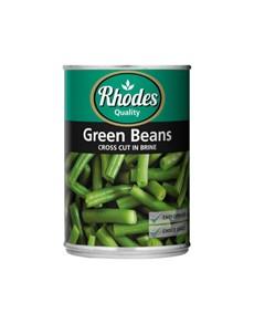 groceries: RHODES  CCUT GREEN BEANS IN BRINE 410G!