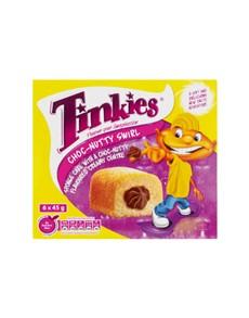 groceries: TINKIES 6S, CHOCNUTTY!