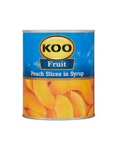 groceries: KOO PEACH 825G, SLICED!