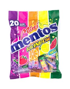 groceries: MENTOS MINI ROLLS, RAINBOW 20s!