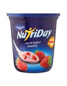 groceries: NUTRIDAY LF FRT YOGHURT 1KG, STRAWBERRY!