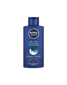 groceries: NIVEA BODY FOR MEN 400ML, MAX HYDRATION!