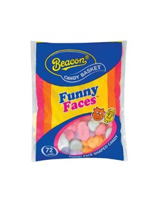 groceries: BEACON CANDY BASKET 72S, FUNNY FACE!