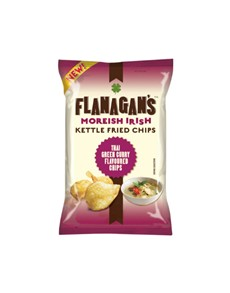 groceries: FLANAGANS CHIPS 125G, THAI CURRY!