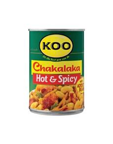 groceries: KOO CHAKALAKA 410G, HOT!