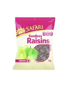 groceries: SAFARI SEEDLESS RAISINS CHOICE 1KG!