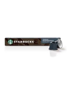 groceries: STARBUCKS CAPS 57G 10S, DRK ESPRESO RST!