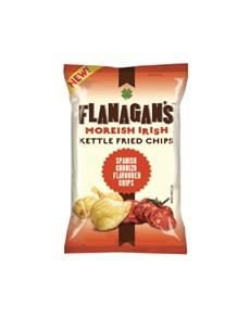 groceries: FLANAGANS CHIPS 125G, SPANISH CHORIZO!