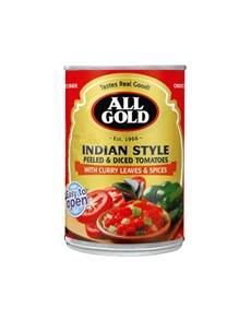 groceries: ALL GOLD DICED TOMATO INDIAN STYLE 410G!